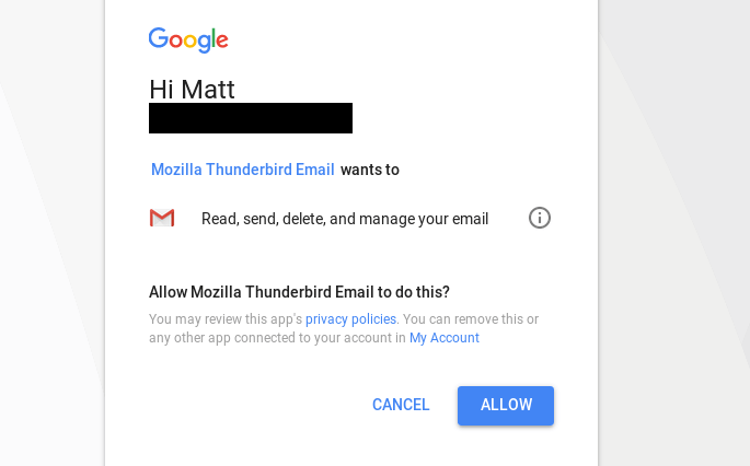Using OAuth2 with Thunderbird and Gmail - Super Tech Crew