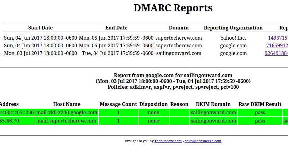dmarc viewer screenshot
